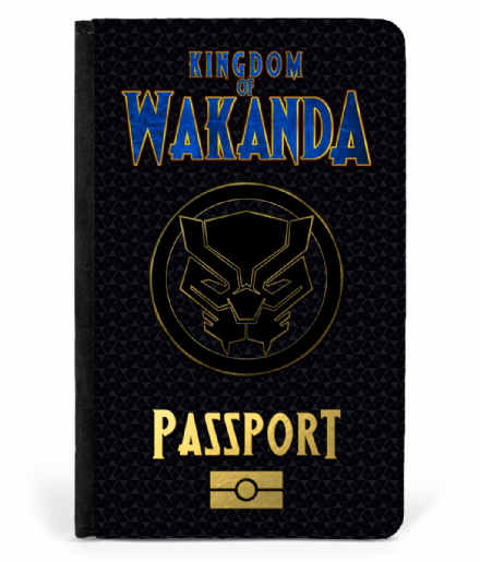 Kingdom Of Wakanda Faux Leather Passport Cover Protector Based on Black Panther